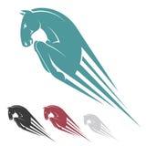 Símbolo de salto do cavalo Fotografia de Stock Royalty Free