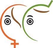 Símbolo de sexo ilustração stock