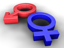 símbolo de sexo Fotos de archivo libres de regalías