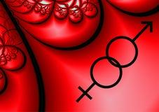 Símbolo de sexo Imagen de archivo libre de regalías