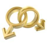 Símbolo de sexo alegre Imagens de Stock Royalty Free