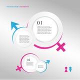 símbolo de sexo masculino e fêmea Imagens de Stock Royalty Free