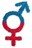 Símbolo de sexo masculino y femenino Imágenes de archivo libres de regalías