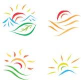 Símbolo de Sun ilustração royalty free