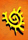 Símbolo de Sun foto de archivo