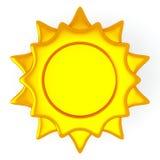 Símbolo de Sun, 3d Foto de archivo