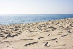 Símbolo de Sun na areia Fotografia de Stock