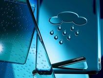 Símbolo de tempo - chuva ilustração do vetor