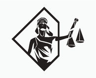 Símbolo de Themis Fotografía de archivo libre de regalías