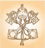 Símbolo de Vatican ilustración del vector
