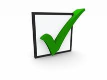 símbolo de verificación 3d Imagen de archivo