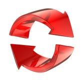 Símbolo de vidro vermelho do reload Fotografia de Stock Royalty Free