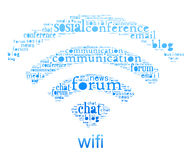 Símbolo de Wifi Fotografia de Stock