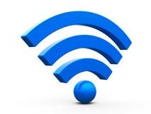 Símbolo de WiFi isometry Foto de Stock