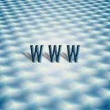 Símbolo de WWW con el teclado abstracto Fotos de archivo
