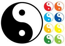 Símbolo de Yin e de Yang. ilustração do vetor