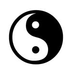 Símbolo de Yin y de Yang Fotografía de archivo libre de regalías
