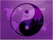 Símbolo de Yin Yang ilustração stock