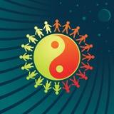 Símbolo de Yin-Yang - homens e mulheres Imagem de Stock Royalty Free