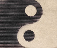 símbolo de Yin-Yang na areia Imagem de Stock