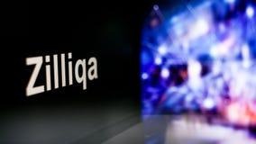 Símbolo de Zilliqa Cryptocurrency comportamento das trocas do cryptocurrency, conceito Tecnologias financeiras modernas ilustração royalty free