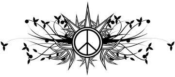 Símbolo decorado da paz isolado Imagens de Stock