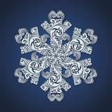Símbolo decorativo decorativo do floco de neve Fotografia de Stock
