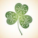 Símbolo decorativo decorativo do trevo da folha Imagens de Stock