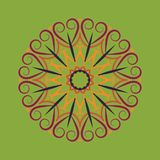 Símbolo decorativo redondo floral Elementos decorativos do vintage abstraia o fundo ilustração do vetor