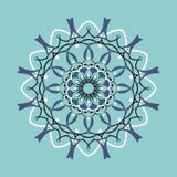 Símbolo decorativo redondo floral Elementos decorativos do vintage abstraia o fundo ilustração royalty free