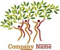 Símbolo del árbol de los pares stock de ilustración