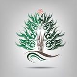 Símbolo del árbol de navidad. Ejemplo del vector Imagenes de archivo