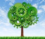 Símbolo del árbol del crecimiento y de éxito Fotografía de archivo