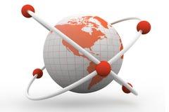 Símbolo del átomo con un globo Foto de archivo