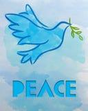 Símbolo del â de la paloma de la paz Imagen de archivo libre de regalías