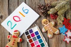 Símbolo del año del dibujo en el papel Imagen de archivo libre de regalías