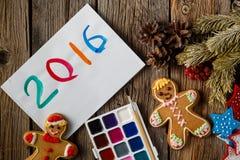 Símbolo del año del dibujo en el papel Fotos de archivo libres de regalías