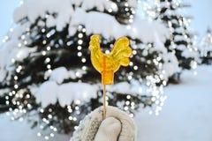 Símbolo del Año Nuevo del caramelo de la Navidad Foto de archivo libre de regalías
