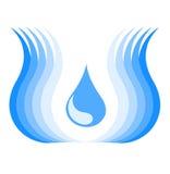 Símbolo del agua Imagen de archivo libre de regalías