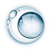 Símbolo del agua Imagen de archivo