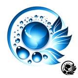 Símbolo del agua dulce ilustración del vector