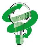 Símbolo del ahorro de la energía de la bombilla Imagen de archivo libre de regalías