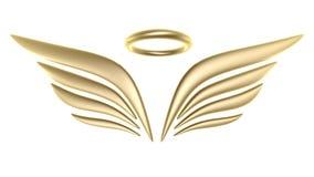 símbolo del ala del pájaro 3d Foto de archivo libre de regalías