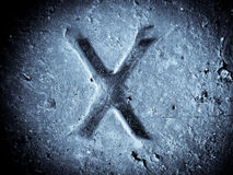 Símbolo del alfabeto - carta X Fotografía de archivo libre de regalías