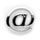 @ - Símbolo del alfabeto del metal fotos de archivo libres de regalías