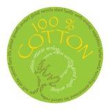 Símbolo del algodón Fotografía de archivo libre de regalías