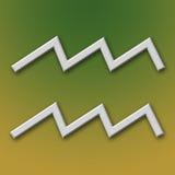 Símbolo del aluminio del acuario Imágenes de archivo libres de regalías