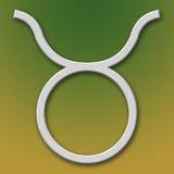Símbolo del aluminio del tauro Fotografía de archivo