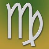 Símbolo del aluminio del virgo Imagen de archivo libre de regalías