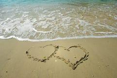 Símbolo del amor de la escritura Imagen de archivo libre de regalías